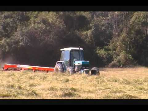 Ford 8340 Tractor Cutting Hay