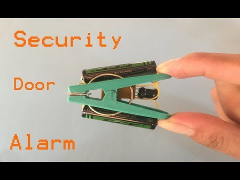 How to make a simple security door alarm