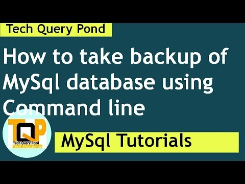 MySql Tutorial : How to take  mysql database backup using command line