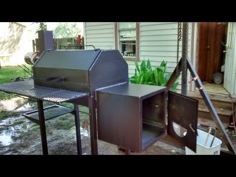 Barbeque smoker build