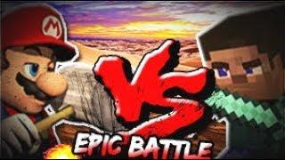 ★ MARIO VS STEVE ★.- 3D Animation ( Epic Fight )
