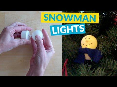 Ping Pong Snowmen Lights
