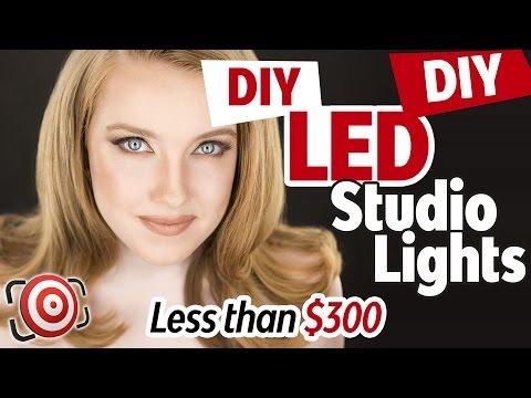 DIY Photography LED Studio Lights for Portraits & Headshots - DIY Kino Flo Lights  - Diy Lighting