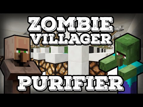Minecraft Tutorial - Zombie Villager Purifier(Minecraft 1.10+)