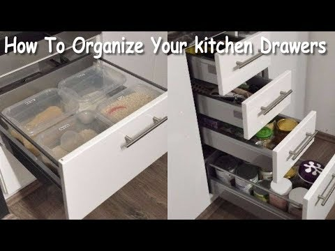 How To Organize Your Kitchen Drawers- Kitchen Drawer Organization  (Kitchen Organizing Ideas)