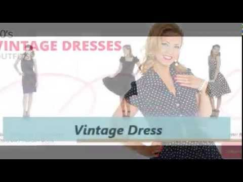 Vintage Dress and Saddle Shoes: Hop Hop 50s Shop