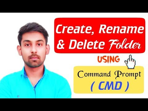 How to Create, Rename and Delete a Folder Using Command prompt (CMD) in Hindi by ( Nirbhay Kaushik )