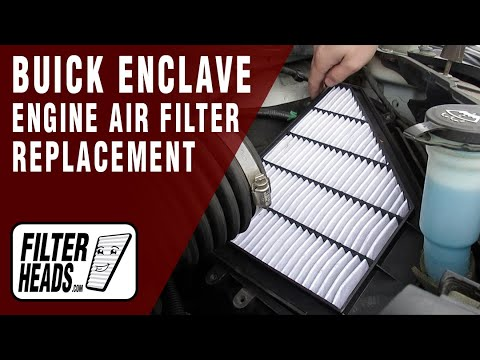 How to Replace Engine Air Filter 2008-2014 Buick Enclave V6 3.6L