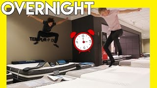 OVERNIGHT IN PUBLIC MALL | (Toilet Paper Fort!)