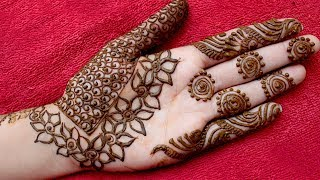 Eid Special Beautiful Unique Floral Mehndi Designs For Palm Latest