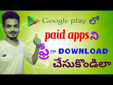 How to download playstore paid apps for free in telugu