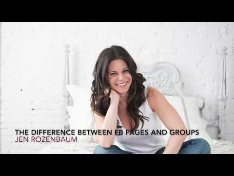 What's the difference between Facebook groups and pages?