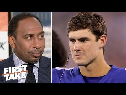 Stephen A. applauds the Giants for replacing Eli Manning with Daniel Jones   First Take