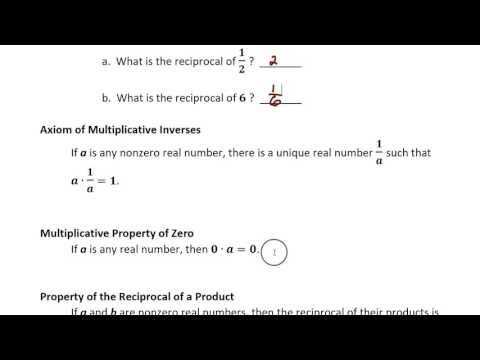 1-5 Identity and Inverse Elements