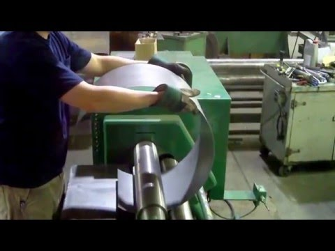 Rolling a steel cylinder