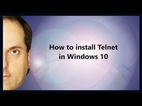 How to install Telnet in Windows 10