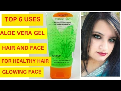 TOP 6 WAYS TO USE PATANJALI ALOE VERA GEL || FOR HAIR | FACE