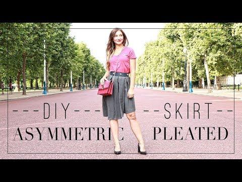 DIY   Back To School -- Asymmetric Pleated Skirt Tutorial   Szilvia Bodi