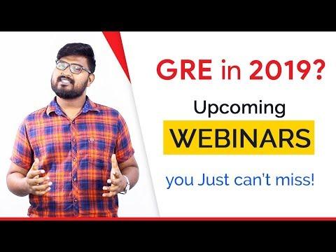Upcoming Online Webinars on GRE Preparations 🗓 Register Now!