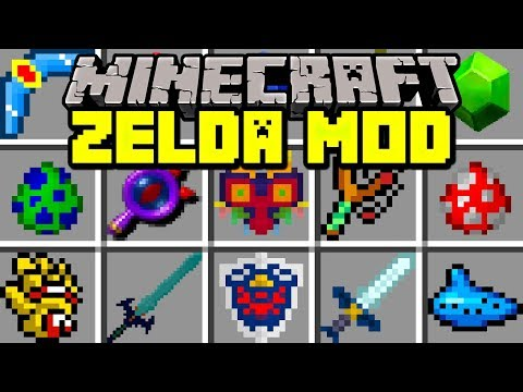 Minecraft ZELDA MOD! | NEW MASTER SWORD, SHIELD, BOWS, BOSSES & MORE! | Modded Mini-Game #Minecraft