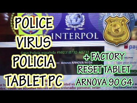 ELIMINAR VIRUS de POLICIA MEXICO TABLET Android TELEFONO REMOVE FBI POLICE VIRUS RESET ARNOVA 90 G4