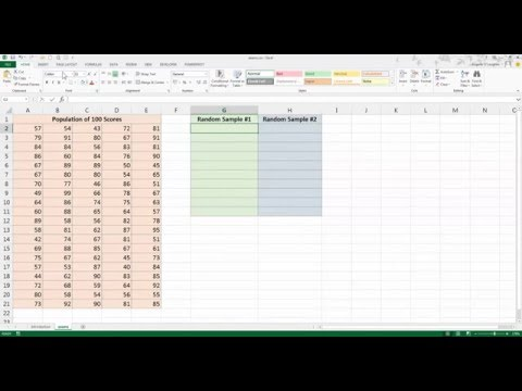 How To... Create a Random Data Sample in Excel 2013