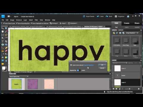Digital Scrapbook Tutorial: Layered Paper Titles & Stickers