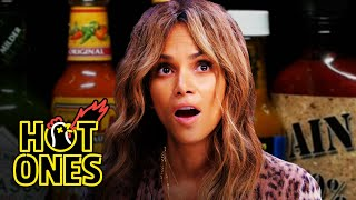 Download Halle Berry Refuses to Lose to Spicy Wings | Hot Ones Video