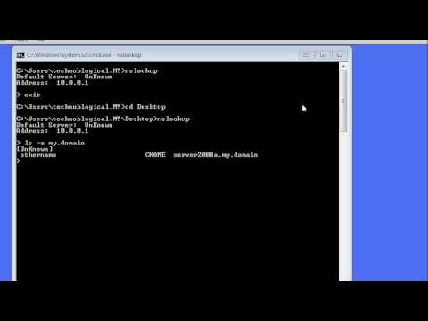 Windows command line networking: nslookup