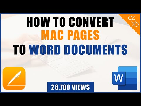How to convert Mac pages document to Microsoft Word document