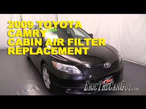 2006-2011 Toyota Camry Cabin Air Filter Replacement -EricTheCarGuy
