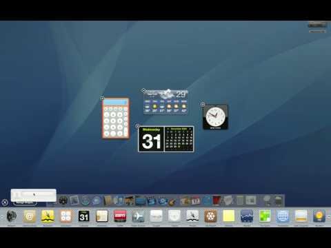 Dashboard Widgets on the Desktop