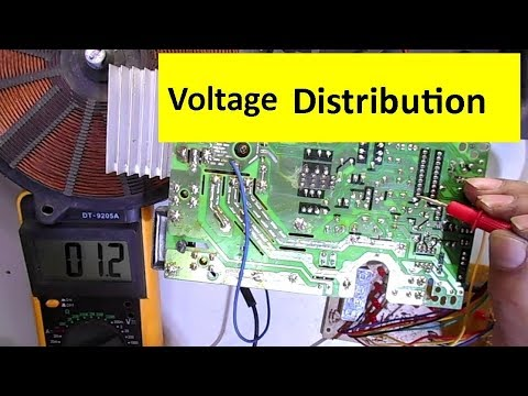 Voltage Distribution Across IGBT, Microprocessor and ICs of Induction Cooktop