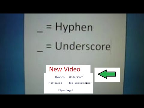 Hyphen & Underscore