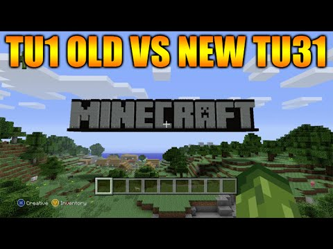 ★Minecraft Xbox 360 + PS3: OLD Title Update 1 Tutorial World Vs Title Update 30/31 Tutorial Mode★