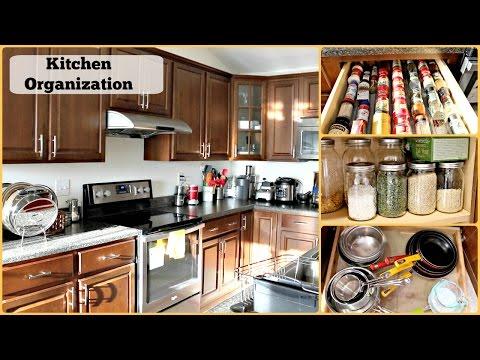 Kitchen Organization in Telugu| Kitchen Tour | How to organize Kitchen
