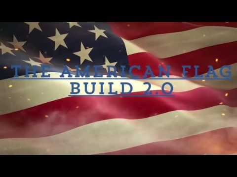 Wooden American Flag Build 2.0: A Step By Step Tutorial Featuring Unique Mitered Corner Additions