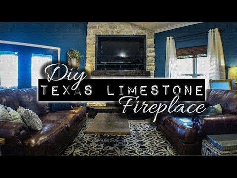 DIY Texas Limestone Fireplace   Home Design & Ideas