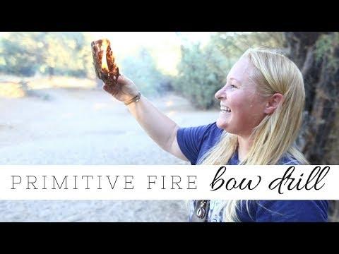 Primitive Fire Making | Bow Drill