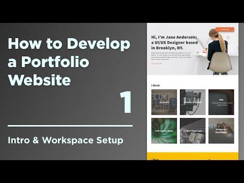 How to Develop a Responsive Portfolio Website | 01 Development Workspace Setup