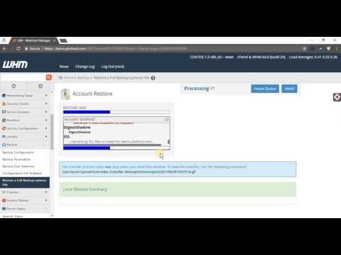 How to restore cPanel accounts from WHM