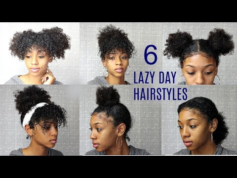 6 Messy & Cute Hairstyles for Lazy Days (Back to School Edition)| NATURAL CURLY HAIR