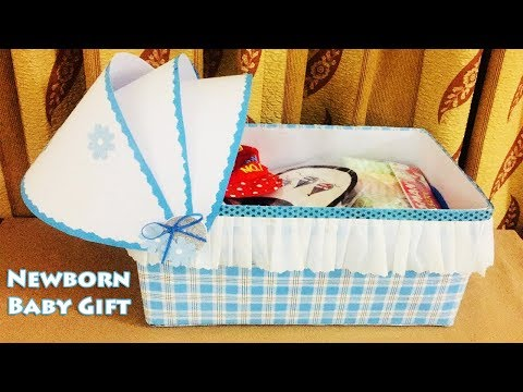 How To Recycle Old Box   Newborn Baby Gift Ideas   Handmade Baby Boy Stroller Gift Box