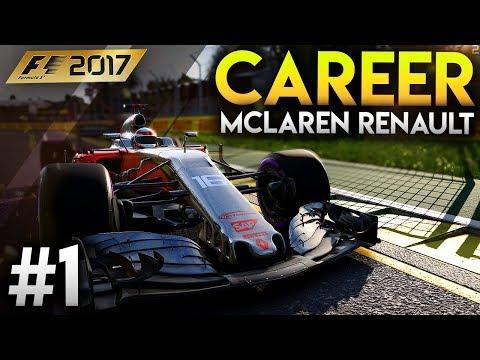 F1 2017 Modded Career Mode Part 1 - Australia GP | McLaren Renault 2018