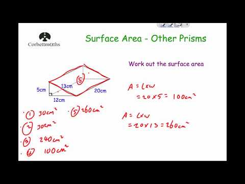 Surface Area of Prisms - Corbettmaths