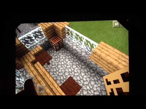 Minecraft Pocket Edition NPC village Library Tutorial Build