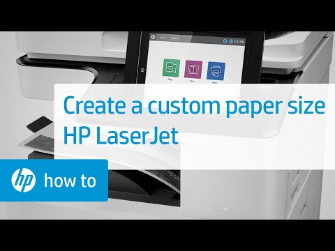 Creating a Custom Paper Size on HP LaserJet Printers