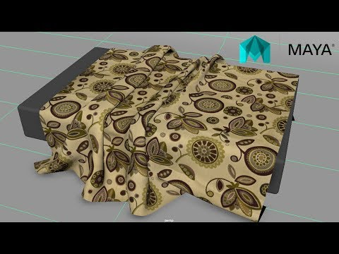 maya modeling tutorial - How to create a wrinkeled bed sheet in Maya