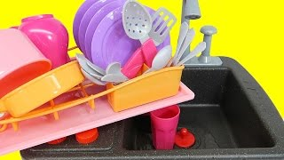 Kitchen Toys for Children Kids Toy Kitchen Set Cooking Soup Sink & Stove