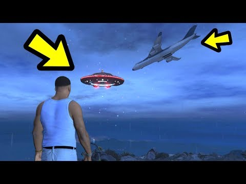 GTA 5 - What Happens if a plane crashes into the UFO?